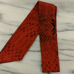 Accessories - Pure Silk Red Bow Tie